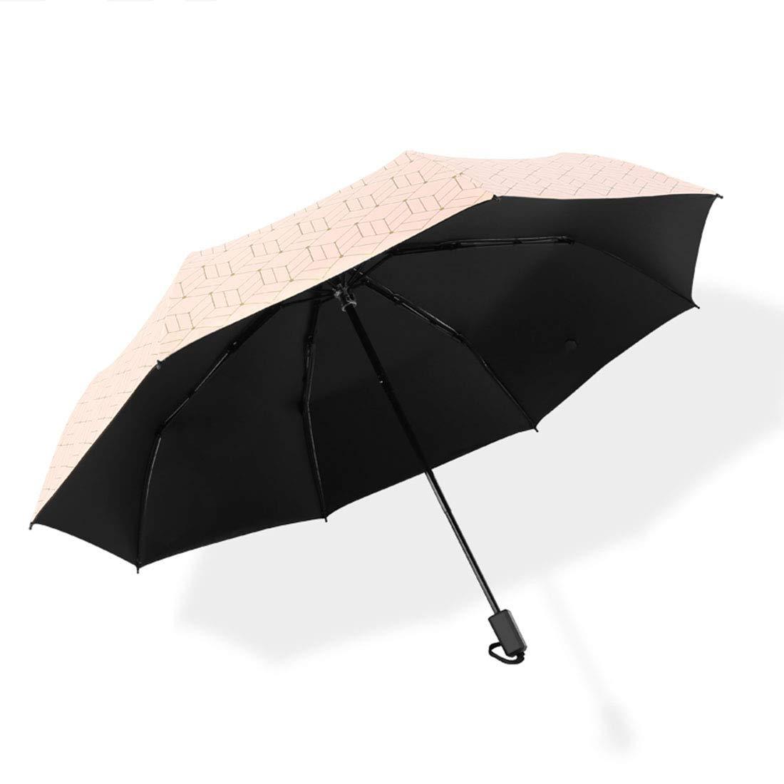 BAOLH Umbrellas Compact Folding Travel Umbrella UV Protection Sunscreen Parasol (Color : Pink)