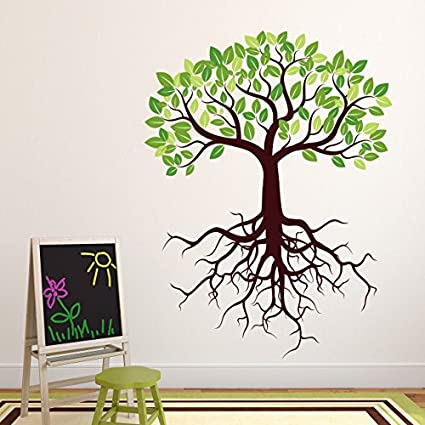 Amazon.com: Tree with Roots Wall Decal by Style & Apply - Wall ...