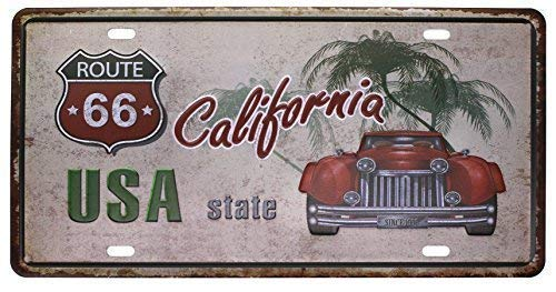 Kevin Porter Tin Sign New Metal Sign Funny USA State California Route 66 Vintage Plaque License Plate 12