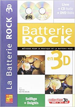BATTERIE ROCK 3D+CD+DVD
