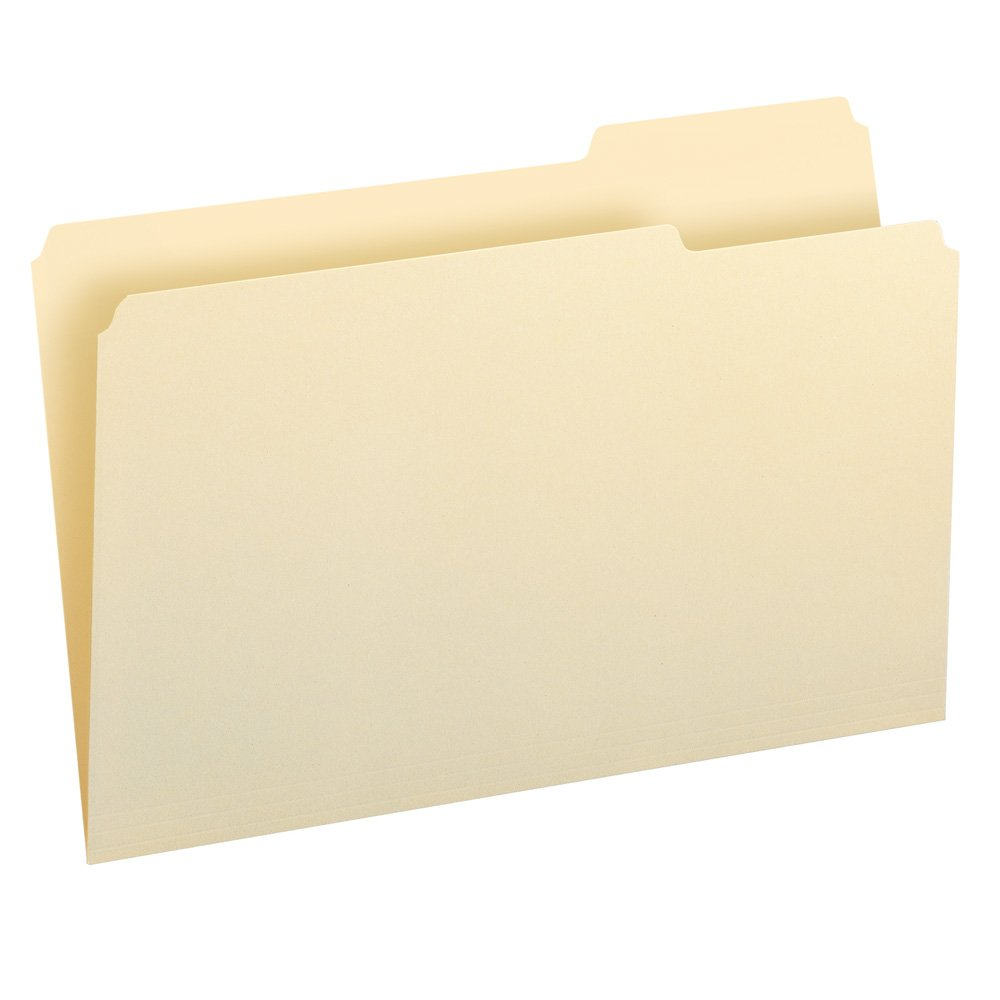 online barato File Folders, 1/3 1/3 1/3 Cut Third Position, One-Ply Top Tab, Legal, Manila, 100/Box  la mejor selección de