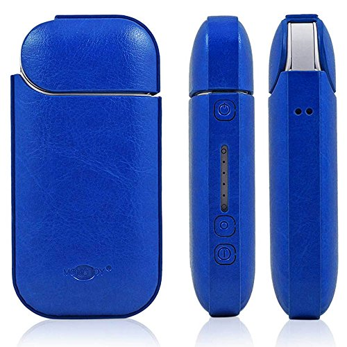 iQOS Case Cigar Holder Pocket Charger Case IQOS Electronic Cigarette Tobacco Cover Cigar Travel Case Pu Leather Full Protective Skin Double Anti Scratch Shockproof (Pocket Cigar Case)