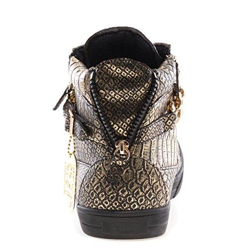 Jump J75 Heren Zink High-top Fashion Sneaker Zwarte Gigantische Python