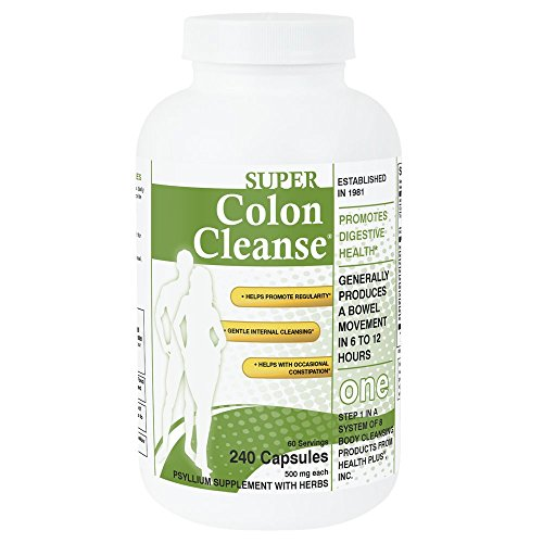 Super Colon Cleanse: 10 Day Cleanse Made with Herbs and Probiotics: Helps with Occasional Constipation, Gentle Internal Cleansing and Detox