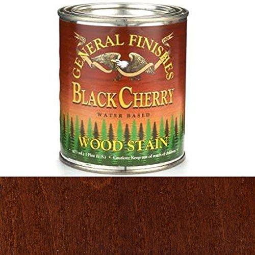 Vapor Black Cherry - General Finishes WKPT Water Base Wood Stain, 1 pint, Black Cherry