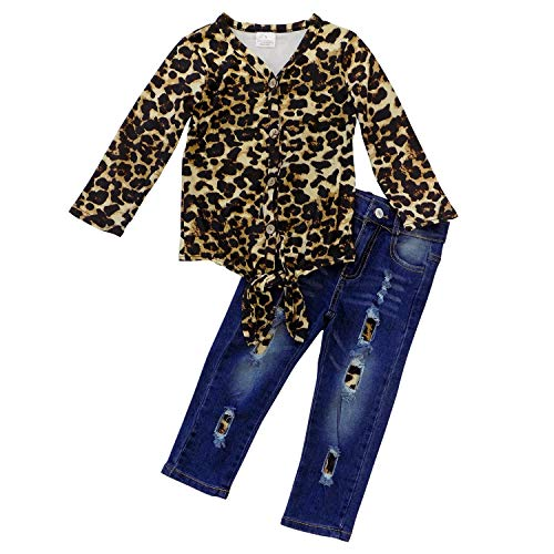 Cheetah Girls Halloween Outfits (So Sydney Girls Fall, Halloween, Thanksgiving 2 Piece Ruffle Boutique Pants Outfit (12-24 Months (XXS), Cheetah Tie Top)