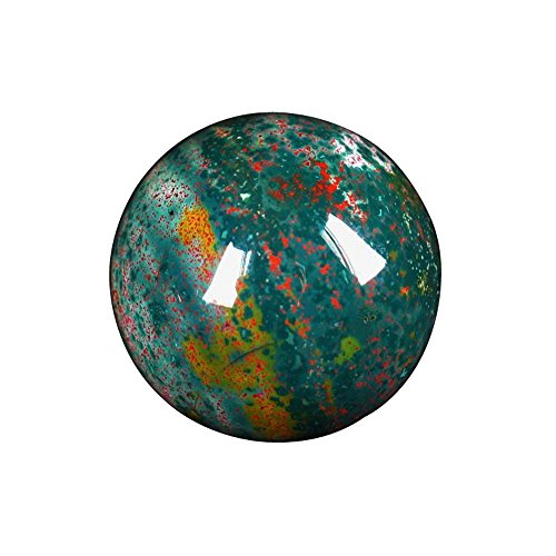 Satyamani Natural Bloodstone Gemstone Sphere(301 gm-400 gm) by Satyamani