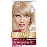 L'Oréal Paris Excellence Créme Permanent Hair Color, 9A Light Ash Blonde, 1 kit 100% Gray Coverage Hair Dye