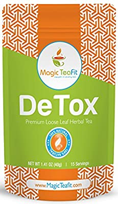 Organic DeTox Tea - Body Cleanse, Natural Weight Loss, Caffeine-free, TOP Quality, Tasty, Unique Blend, and Detoxify Tea From Magic Teafit