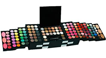 1106abe96867 RoseFlower Pro 144 Colors Shimmer and Matte Eyeshadow All In One Makeup Kit  Cosmetic Contouring...