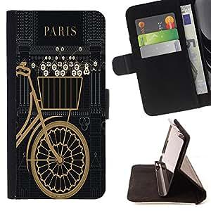 - Paris Tower Retro Vintage/ Personalizada del estilo del dise???¡Ào de la PU Caso de encargo del cuero del tir????n del soporte d - Cao - For Samsung Galaxy S6 EDGE