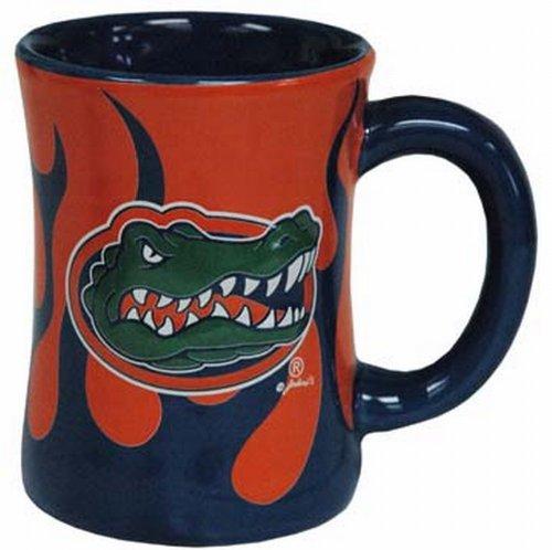 - NCAA Florida Gators Ceramic Relief Flame Design Mug, Team Color
