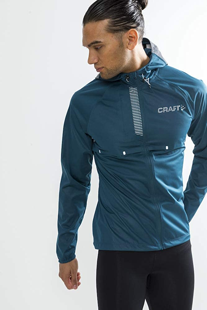Amazon.com: Craft Mens Repel Running and Training Outdoor Sport Windproof and Waterproof Reflective Fitted Hooded Jacket: Clothing
