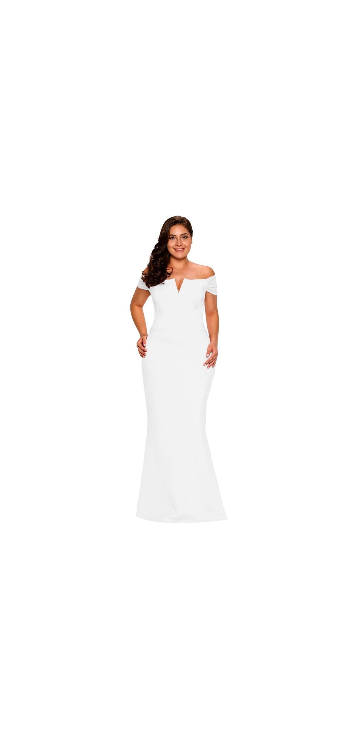 Women's Plus Size Off Shoulder Long Formal Party Dress