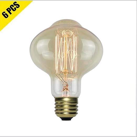 HaoHZ Bombillas de filamento Vintage Edison, L85 Luz Blanca cálida ...