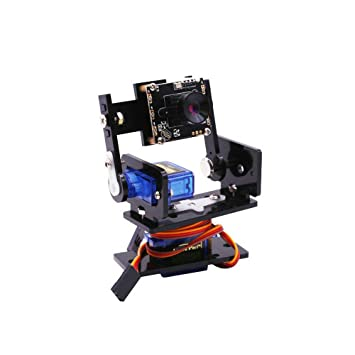 HQTECHFLY Pan/Tilt Camera Platform for Raspberry Pi PTZ 480P Smart