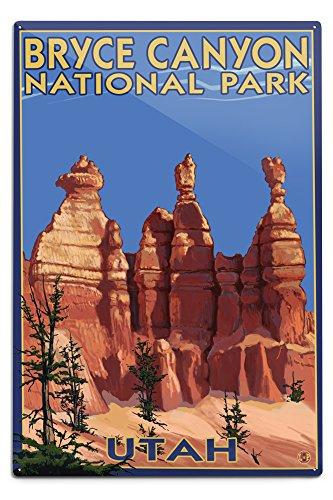 Lantern Press Bryce Canyon National Park, Utah - Summer #2 (12x18 Aluminum Wall Sign, Wall Decor Ready to ()