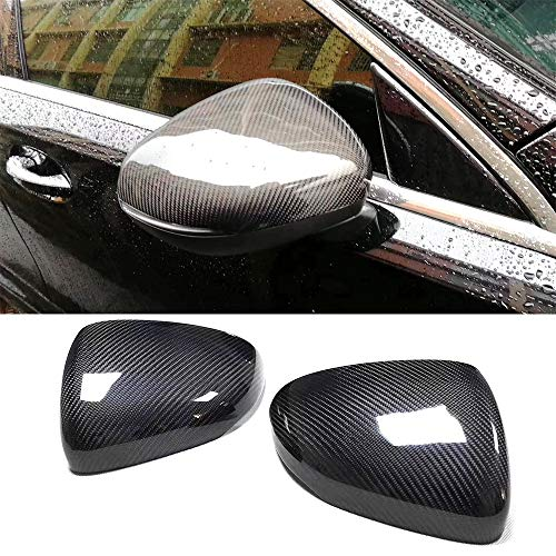 Mosion Auto W177 Replacement Carbon Fiber Gloss Black Rearview Mirror Covers, Side Mirror Covers for Mercedes-Benz New A-Class W177