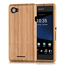 kwmobile Natural wood case for the Sony Xperia E3 in bamboo light brown