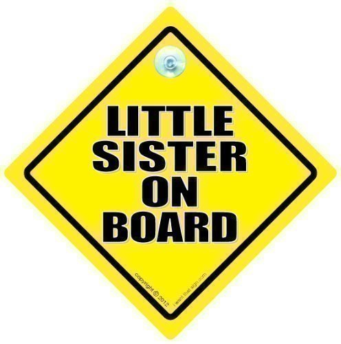 Little Sister On Board Sister voiture Little Sister 'Motif voiture Baby On Board, soeur, soeur On Board Panneau bé bé -brise arriè re de voiture Inscription' Granddaughter On Board iwantthatsignLtd LITTLESISTER