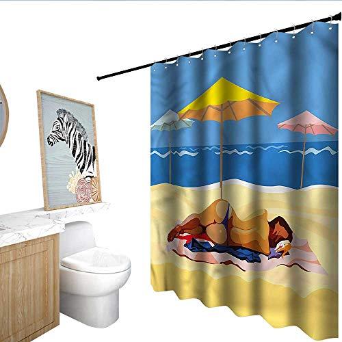 Oakland Raiders Bikini BlountDecor Beach Shower Curtains
