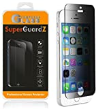 iphone 5 protect screen - [2-PACK] For iPhone SE / 5S / 5C / 5 - SuperGuardZ Privacy Anti-Spy Tempered Glass Screen Protector, 9H, 0.3mm, 2.5D Round Edge, Anti-Scratch, Anti-Bubble