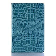 Samsung T835 Screen Protector,Book Crocodile Pattern Vintage Stand Smart Billfold Pouch Magnetic Phone Sleeve Only for Samsung Galaxy Tab S4 SM-T830 (Wi-Fi)/SM-T835 4G (LTE) 10.5-inch 2018(Blue)Boens