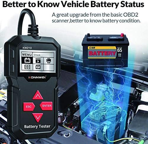 12V CCA 100-2000 Car Battery Tester Digital Alternator Tester Auto Load Analyzer