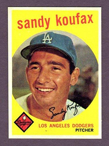 Sandy Koufax 1959 Topps Baseball Reprint Card (Brooklyn) (Los Angeles)