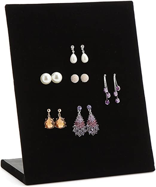 Velvet Earrings Necklace Jewelry Studs Display Stand Holder Organizer Rack Gifts