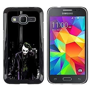 // PHONE CASE GIFT // Duro Estuche protector PC Cáscara Plástico Carcasa Funda Hard Protective Case for Samsung Galaxy Core Prime / Joker Dark City Bat /