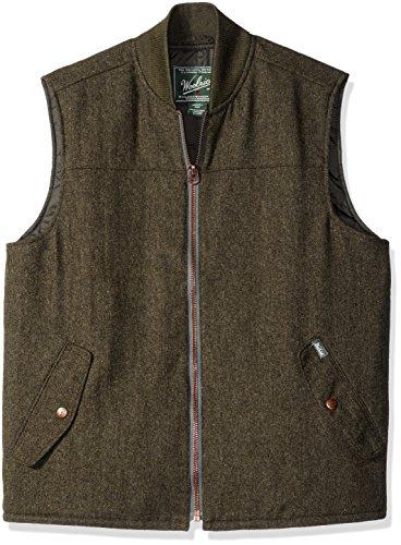 Woolrich Wool Fabric - Woolrich Men's Bear Claw Wool Vest, Green, Large