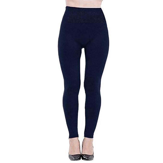 VJGOAL Mujeres de Moda Casual Color sólido Pantalones de Yoga Fleece Forrado Pantalones de Fitness Suave