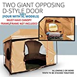 Standing Room Family Cabin Tent 8.5 FEET OF HEAD ROOM 2 or 4 Big Screen Doors Fast Easy Set Up Full waterproof Fabric Ceiling NOT CHEAP LEAKY MESH screen FULL TUB STYLE Floor CANOPY FRAME NOT INCLUDED