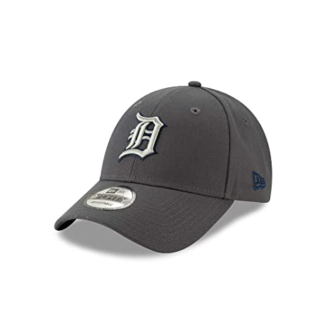 finest selection 6caf5 d977c Image Unavailable. Image not available for. Color  New Era Detroit Tigers  The League Graphite 9FORTY Adjustable Hat Cap