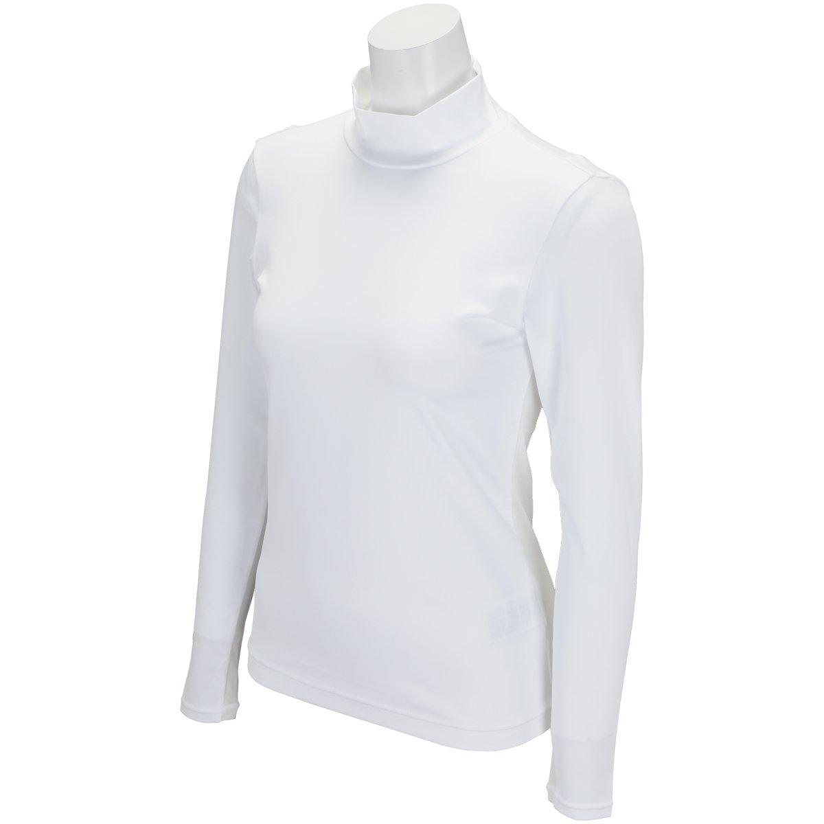 ブラック&ホワイト Black & White アンダーウェア ストレッチ 長袖アンダーシャツ レディス B07BN27D9T Large|ホワイト ホワイト Large