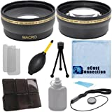 Pro Series 58mm 0.43x Wide Angle Lens + 2.2x Telephoto Lens + Ecost Kit for Canon EOS 5DS R Rebel T6s 5DS Rebel T6i 7D Mark II T1i T2i T3 T3i T4i T5i T5 SL1 30D 40D 50D 60D 70D 5D 1D 5DII 5DIII & More