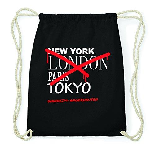JOllify WANHEIM-ANGERHAUSEN Hipster Turnbeutel Tasche Rucksack aus Baumwolle - Farbe: schwarz Design: Grafitti FRl78lv5
