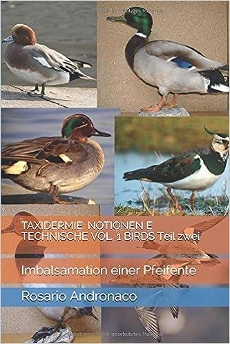TAXIDERMIE: NOTIONEN E TECHNISCHE VOL. 1 BIRDS Teil zwei: Imbalsamation einer Pfeifente (Vögel) (German Edition)