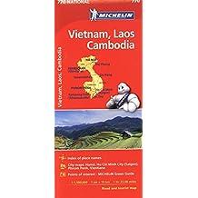 Michelin Vietnam Laos Cambodia Map 770