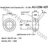 QA1 COM10T Spherical Bearing,Bore Dia 0.6250 In