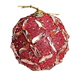 1PC Christmas Rhinestone Glitter Baubles Balls Christmas Tree Ball Ornament Balls,Outsta Balls Xmas Ornament Decoration for Holiday Wedding Party Christmas Decoration 3.14''/8cm (Red)