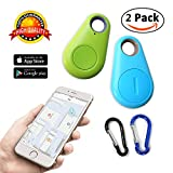 key finder smart tracker Bluetooth Locator pet car child wireless anti lost alarm sensor for wallet kids dog cat bag phone selfie device located shutter 2 pack seeker