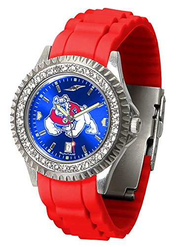 Fresno Wrist State Watch - New Linkswalker Ladies Fresno State Bulldogs Sparkle Watch