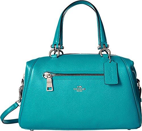 COACH Women's Pebbled Primrose Satchel Sv/Turquoise Handbag by Coach