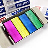 Potelin Colorful Staples Needles Thick Galvanised Staples Fit Most Desktop Staplers Practical Office Study Supplies Pack of 800
