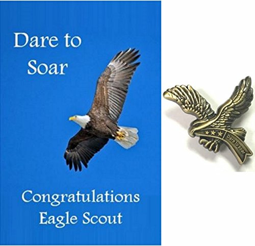 Used, Eagle Scout Card and Pin Dare to Soar Set for sale  Delivered anywhere in USA