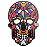 Unpara Halloween LED Mask Party Version Sound Reactive Dance Rave Light Up Adjustable Mask (E)