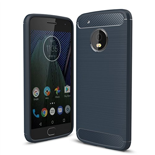 Moto G5 Plus Case, Landee Soft Silicon Resilient Shock Absorption and Carbon Fiber Design Protective Case for Motorola Moto G5 Plus (5.2
