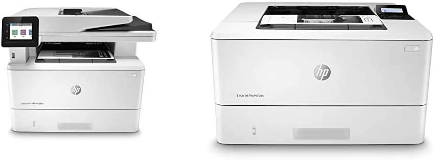 HP Laserjet Pro Multifunction M428fdn Laser Printer (W1A29A), White & Laserjet Pro M404n Laser Printer with Built-in Ethernet & Security Features, Amazon Dash Replenishment Ready (W1A52A), White